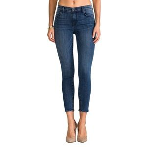 J Brand Cropped Zip Rumour Mid Rise Skinny Jeans